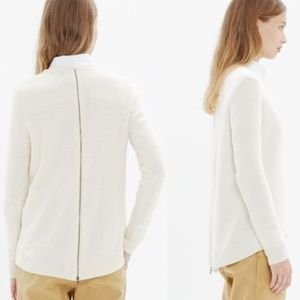 Madewell | Back Zip Up Pullover Sweater Cotton